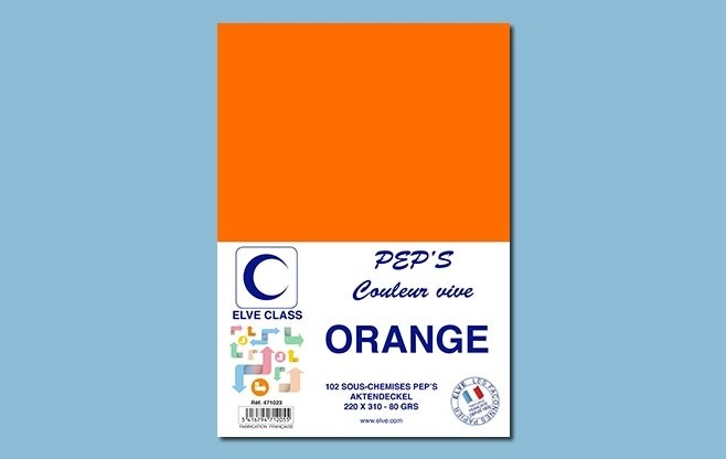 102 sous-chemises Elve Class Pep's orange 80g