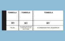 25 - Lot de 10 blocs tombola blanc - 50 x 150 - 100 feuillets